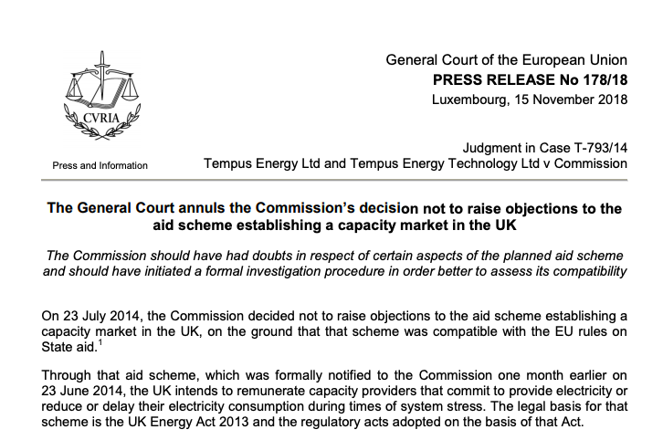 Press release about the Tempus litigation