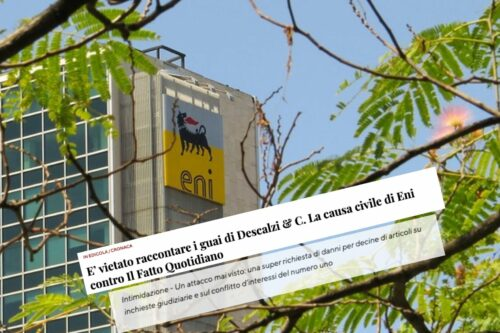 Energy giant Eni's despicable attack on Italian newspaper il Fatto Quotidiano
