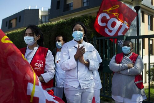 Photo essay: French trade unionists on strike against Korian